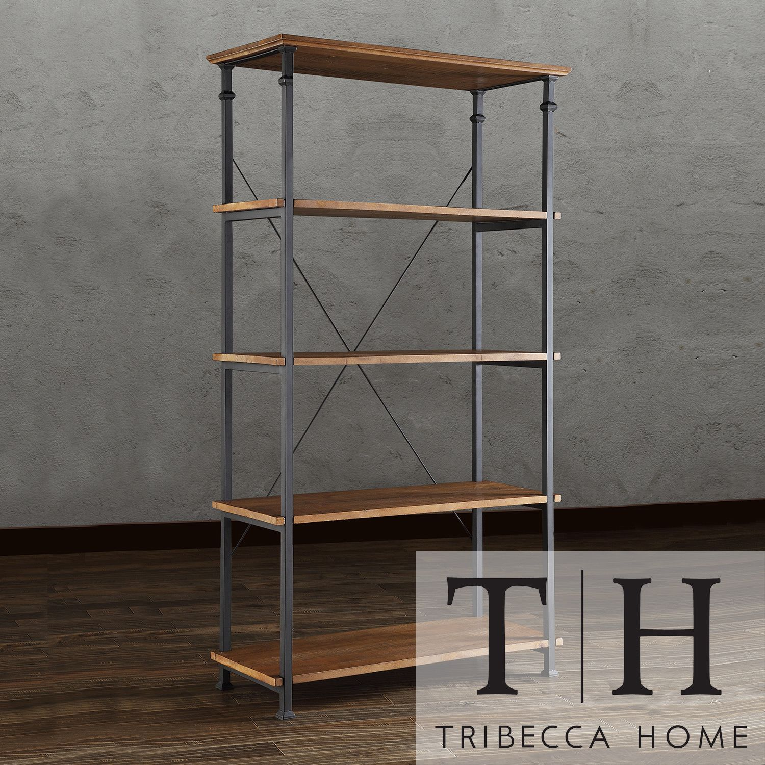 Myra II Vintage Industrial Modern Rustic 40-inch Bookcase by iNSPIRE Q  Classic by iNSPIRE Q