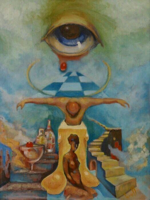Souffrance With Salvador Dali Surrealisme Peinture Abstraite Peinture