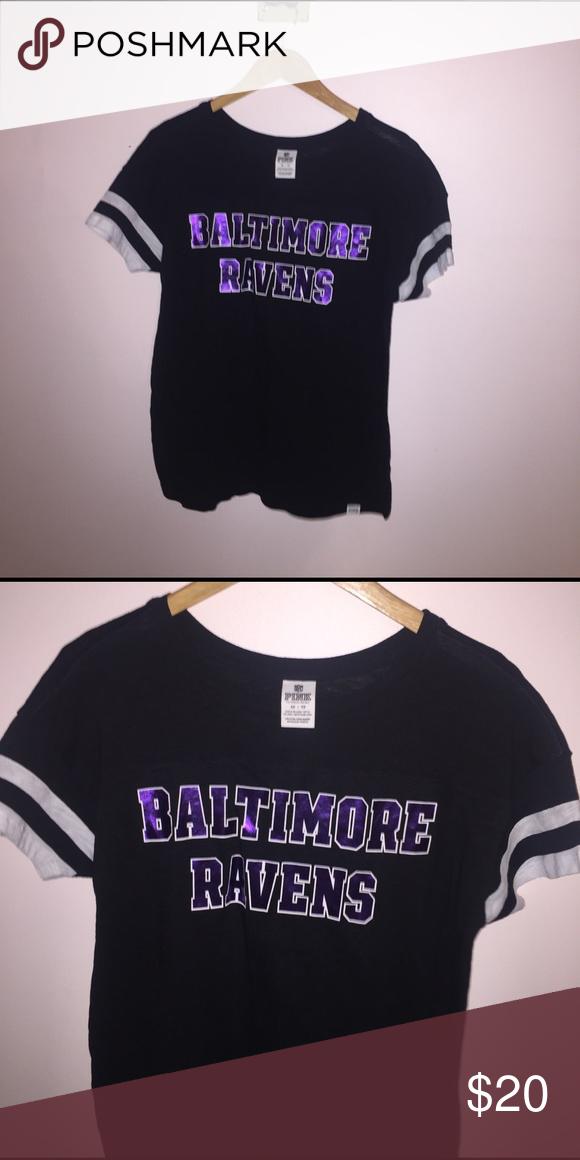 7cbaea349 Victoria Secret PINK Baltimore Ravens tee Worn two times