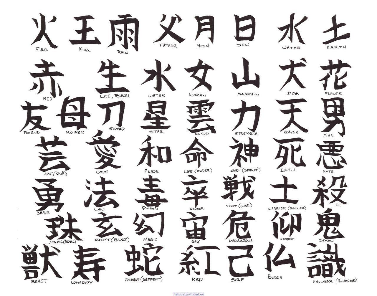 Tatouage Dessin Chinois Tuer Auf