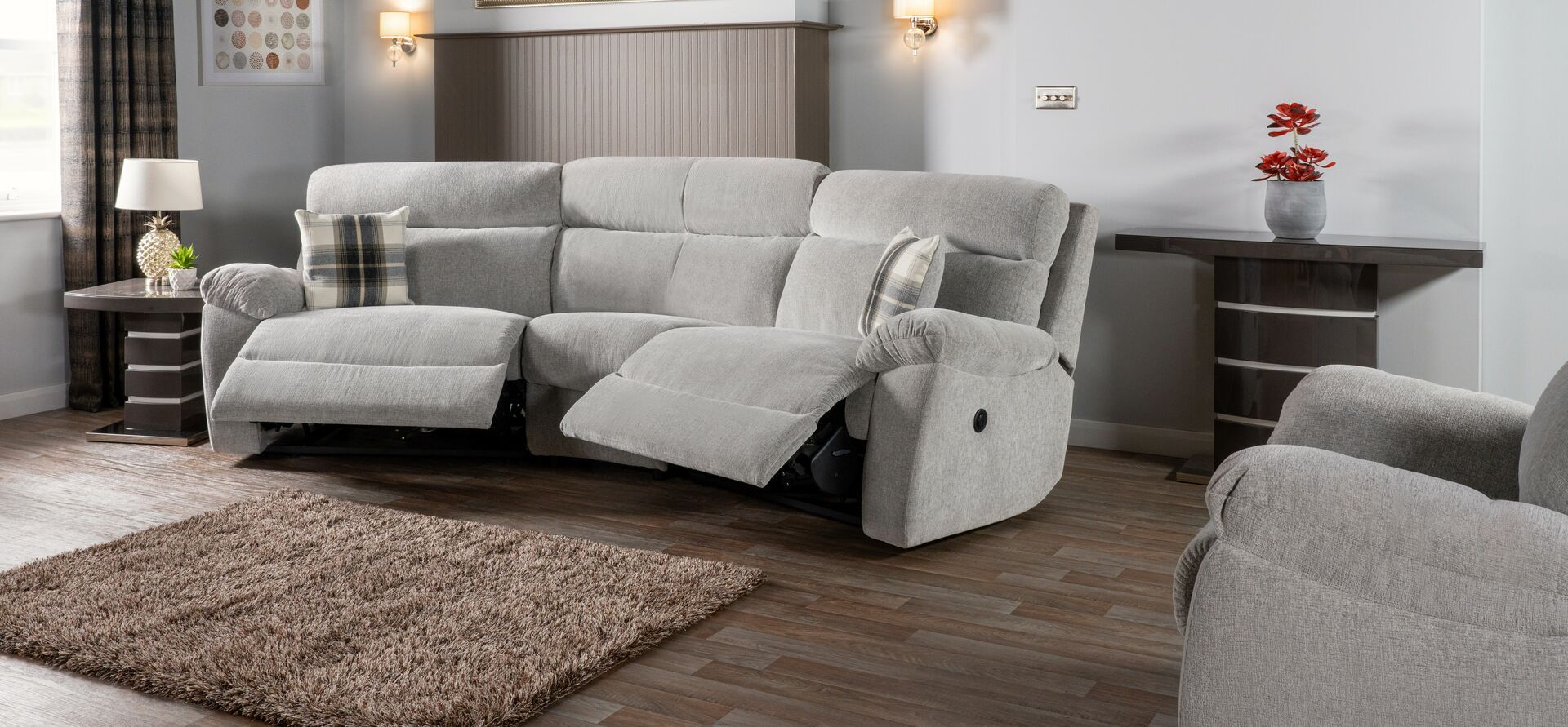Cloud 4 Seater Curved Power Recliner Sofa In 2020 Beige Living