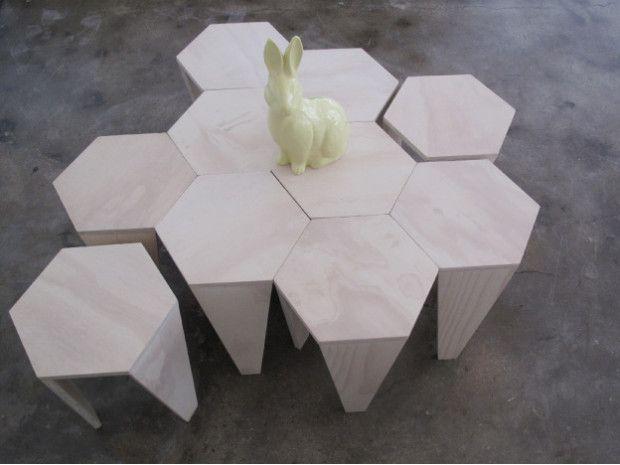 Hexagon Stool Coffee Table