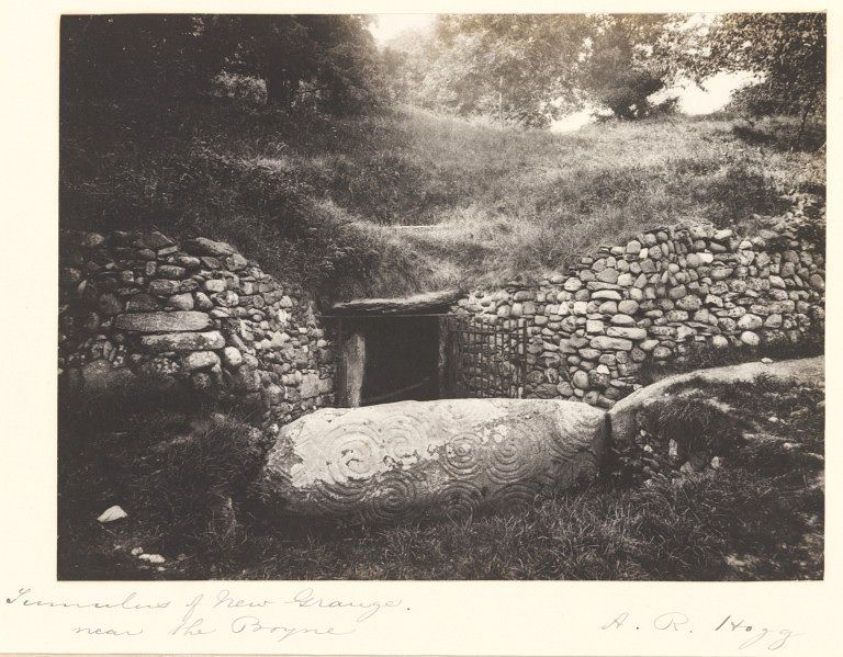 The Entrance Into Newgrange Co Meath Ireland In1900 By A R Hogg Cool I Wondered What It Looked Like Before T Celtic Ireland Ireland History Irish History