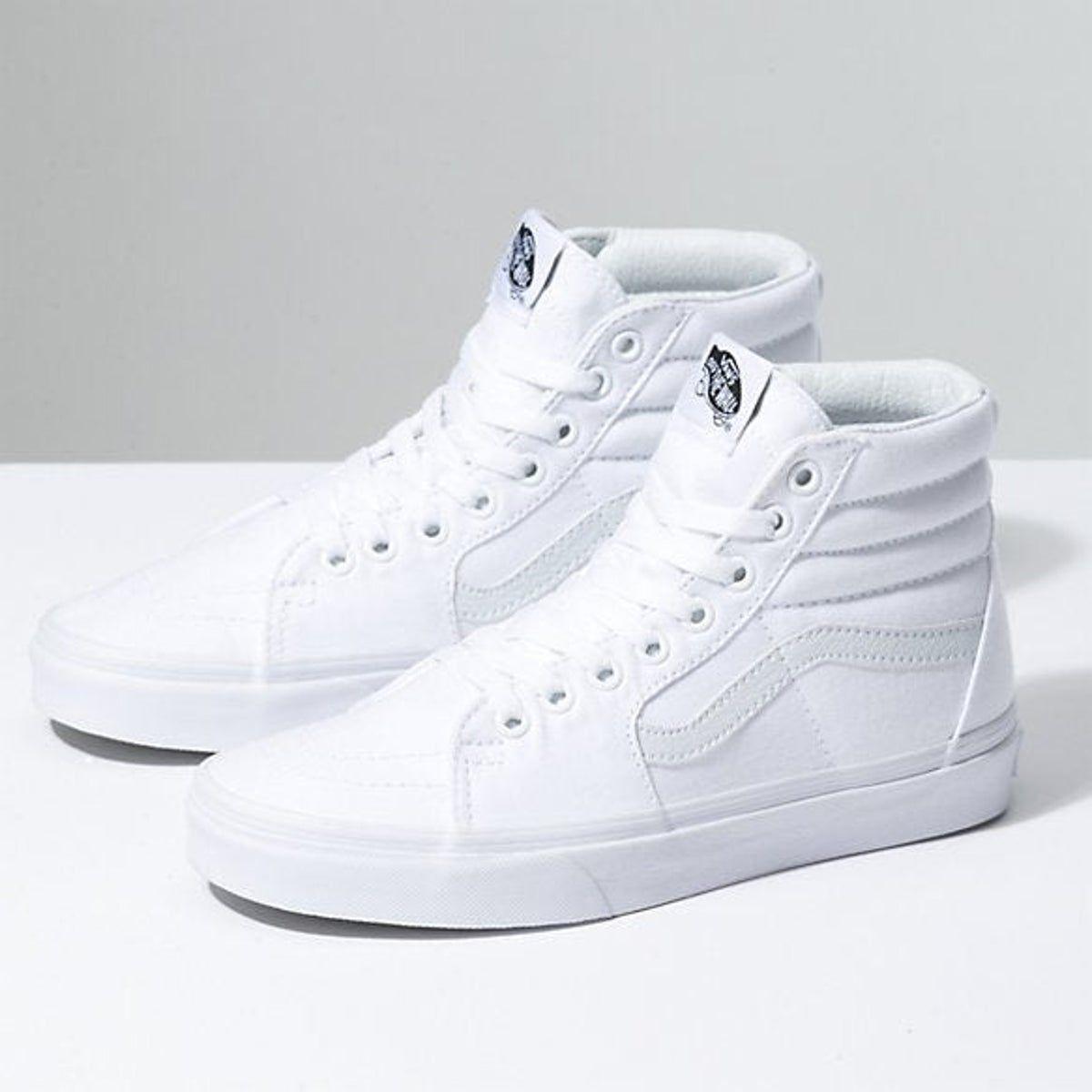Vans Old Skool White High Tops | White