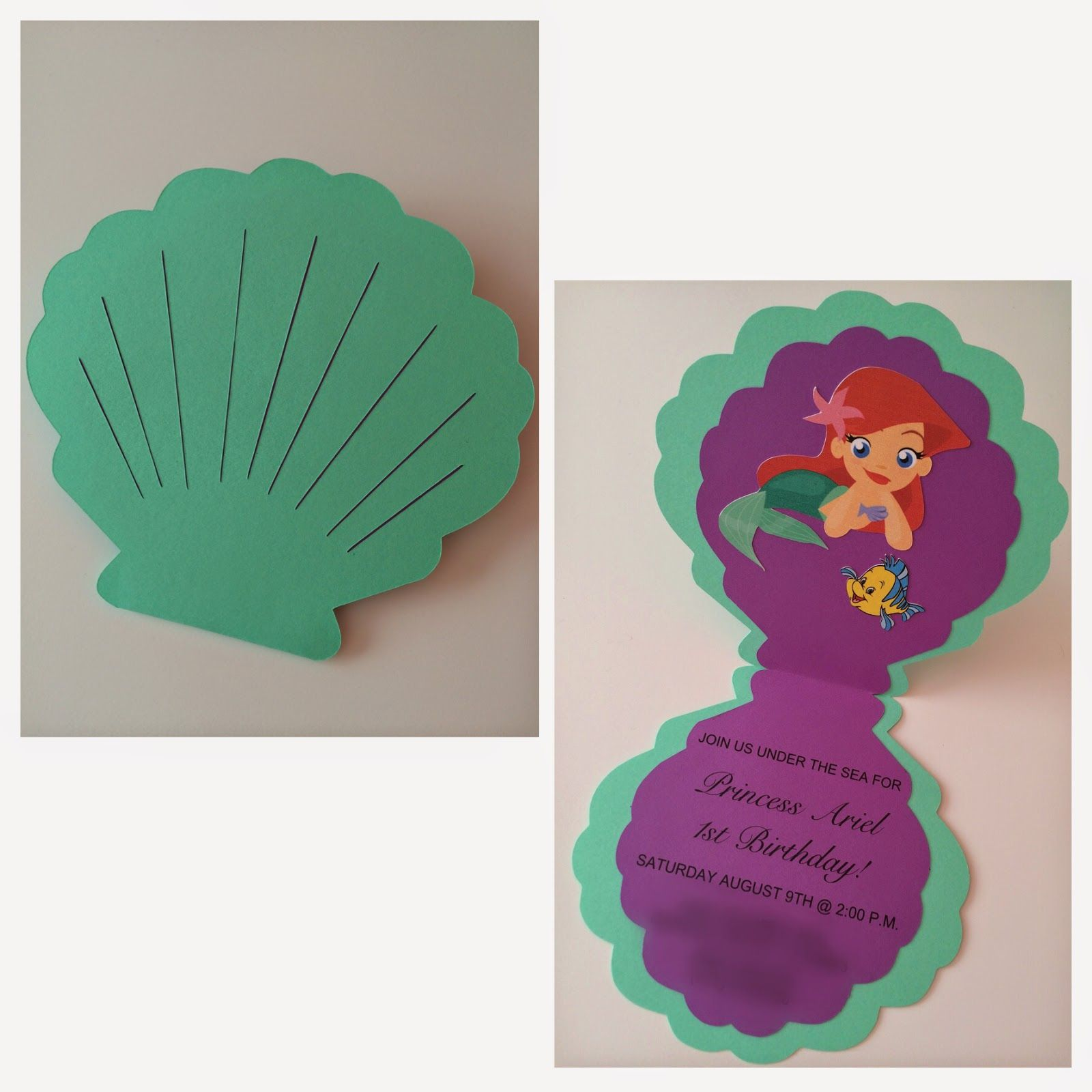 Rockmebeautiful the little mermaid birthday party graphic design