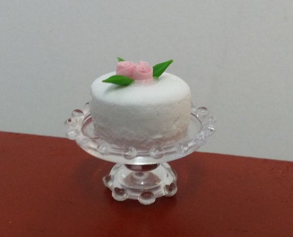 Special Occasion Cake For Fairy Garden or by FairylandCraftique