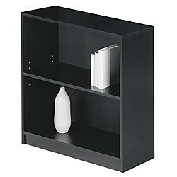Office Depot Realspace Basic Bookcase 2 Shelf 30 1 8 H X 27 3 4