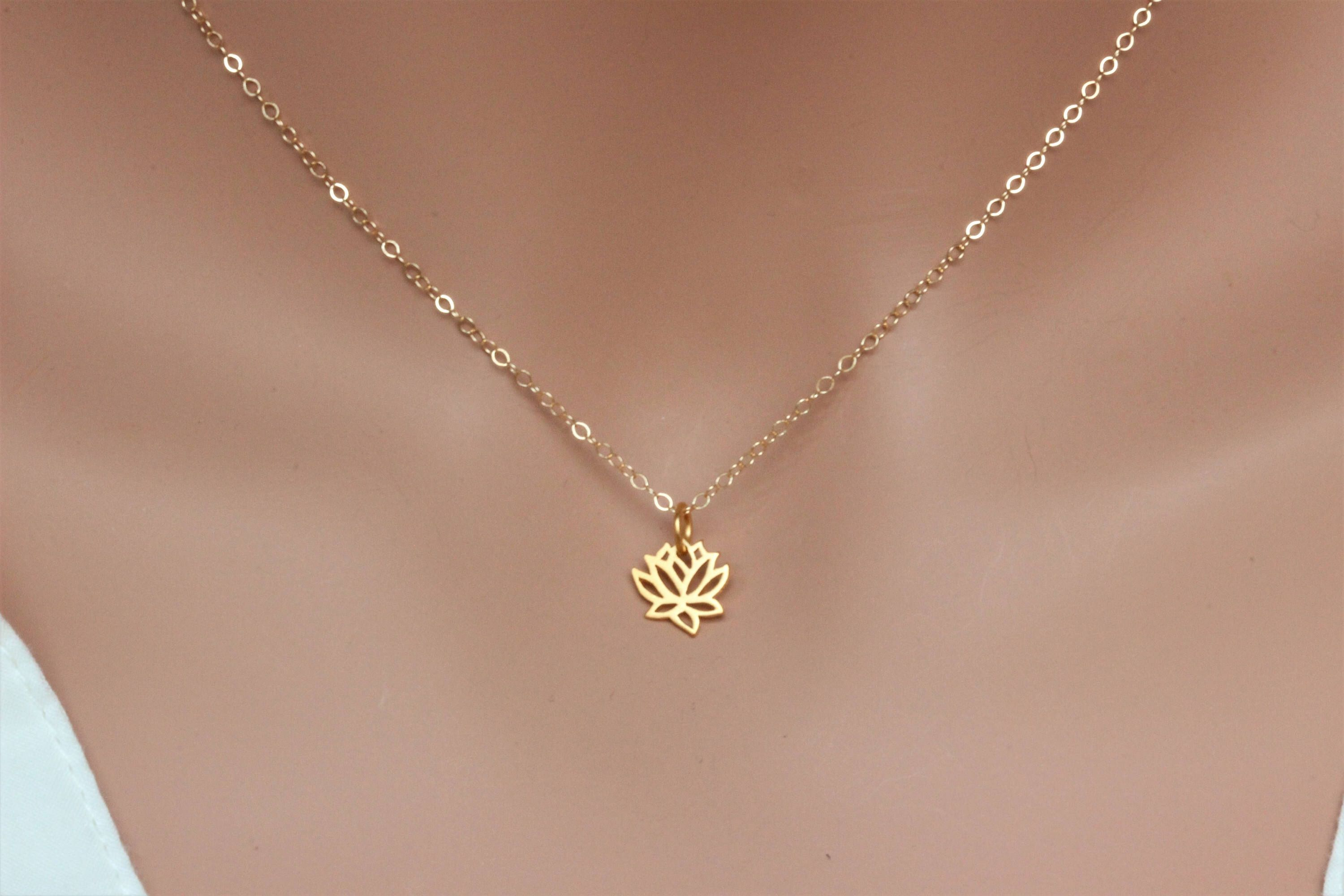 flower filled lotus gold original product necklace on luulla nelumbo