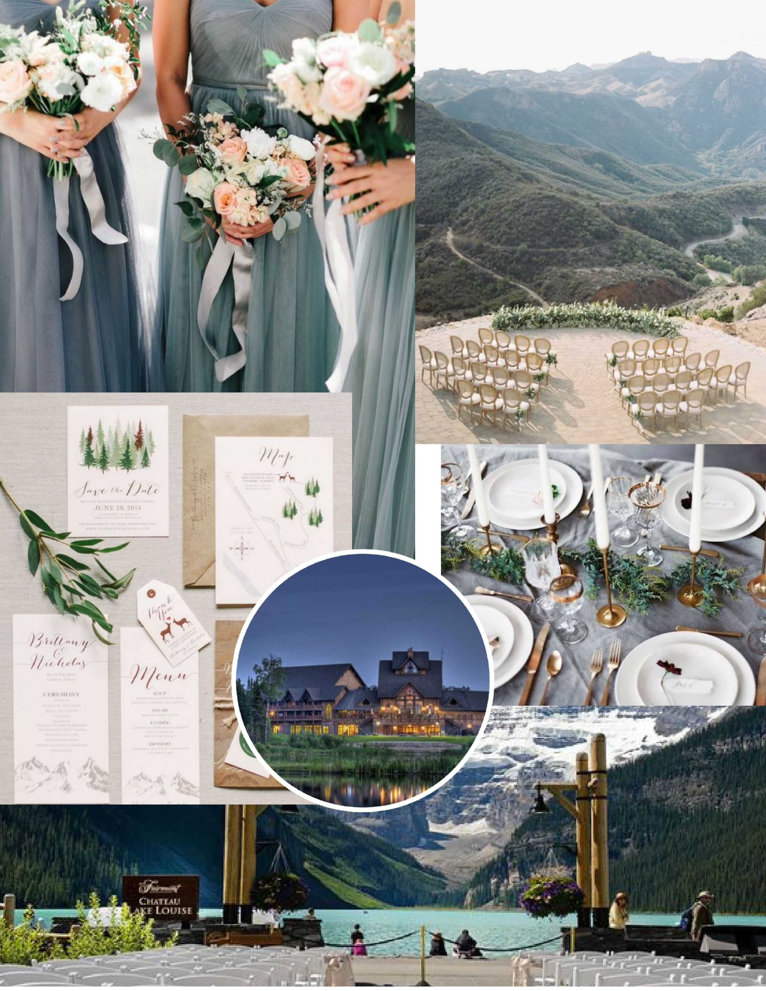 Slate Mountain Top Canadian Wedding Vision Board Canada Mountains Design Inspiration Mood