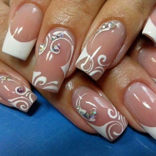 Fancy french nails cool nails pinterest french nails fancy french nails prinsesfo Choice Image