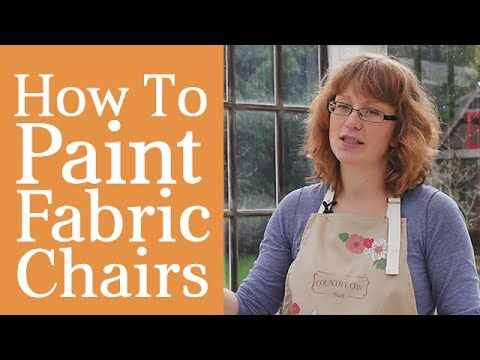 How To Paint A Fabric Chair | Upholstered Furniture Painting Tutorial #paintfabric