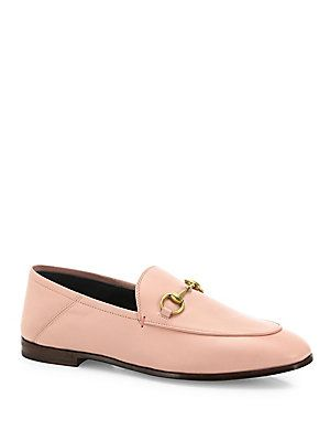 d9a87778bbd Gucci Brixton Foldable Leather Loafers - Pink - Size