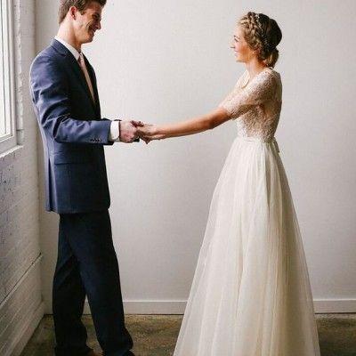 flowy-modest-wedding-dress-utah   Bodas   Pinterest   Alta moda ...