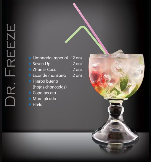 Conoce a Dr Freeze. Coctel Latin Spirit Zhumir. Conoce más cocteles ingresando aquí: https://www.facebook.com/ZhumirEcuador/app_239454309409452