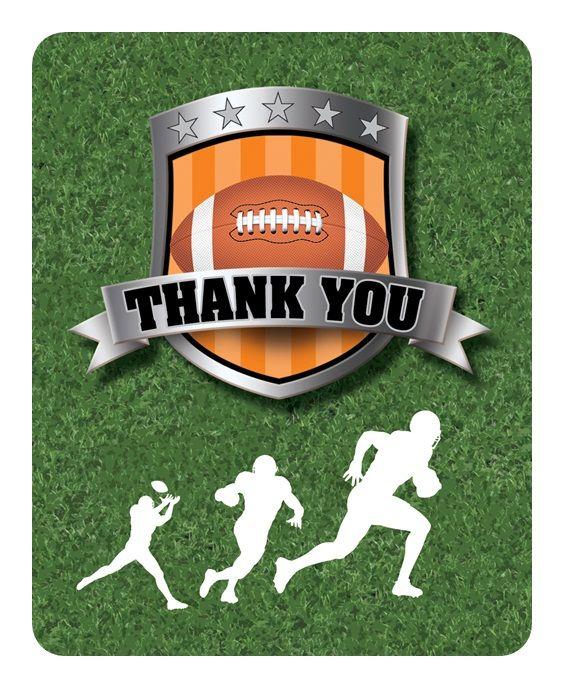 Football Thank You Cards Scrapbooking Pinterest Cards