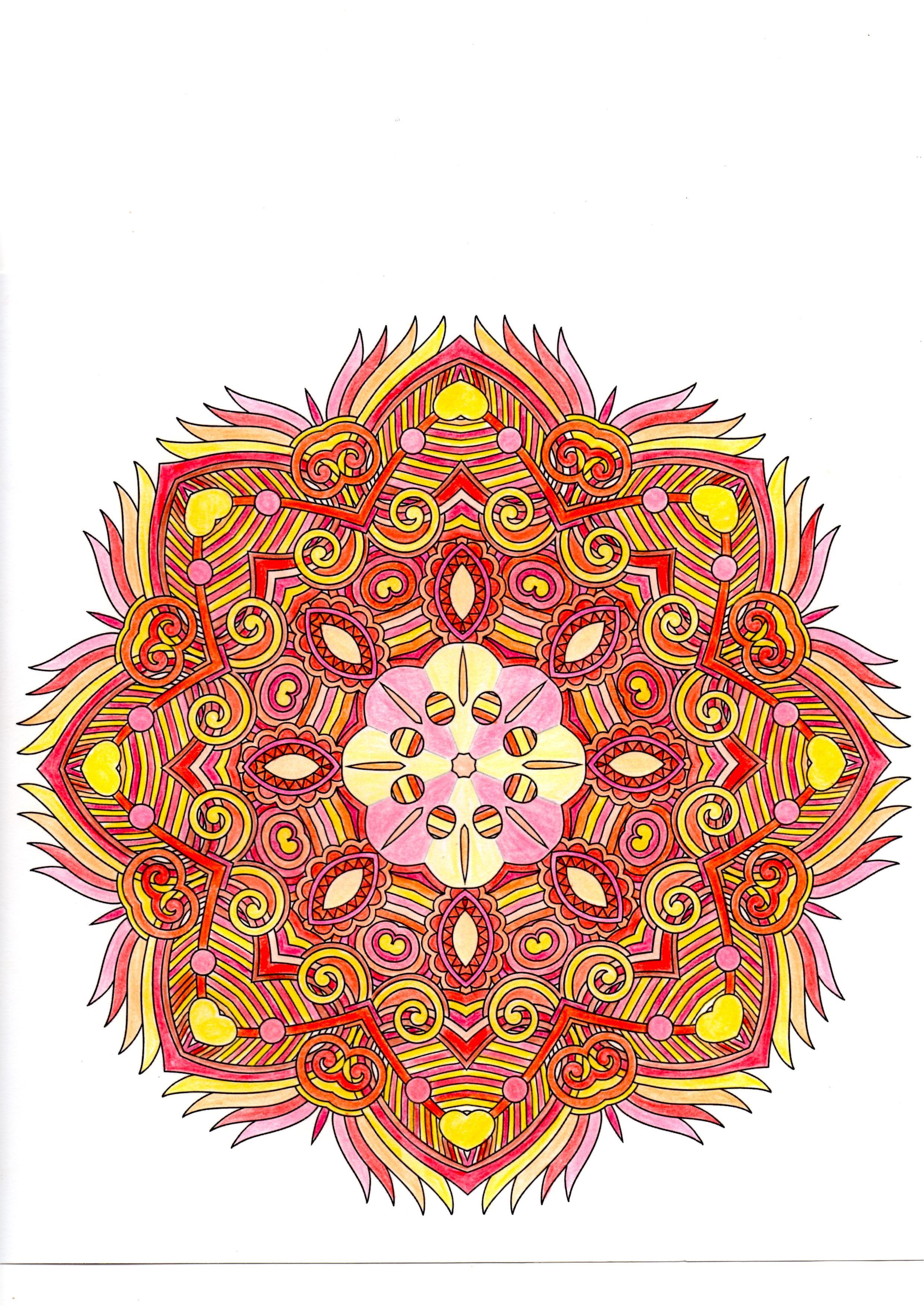 Mandala Issu De Zen Attitude Esprit Mandala Fait Au Cdc Mandala