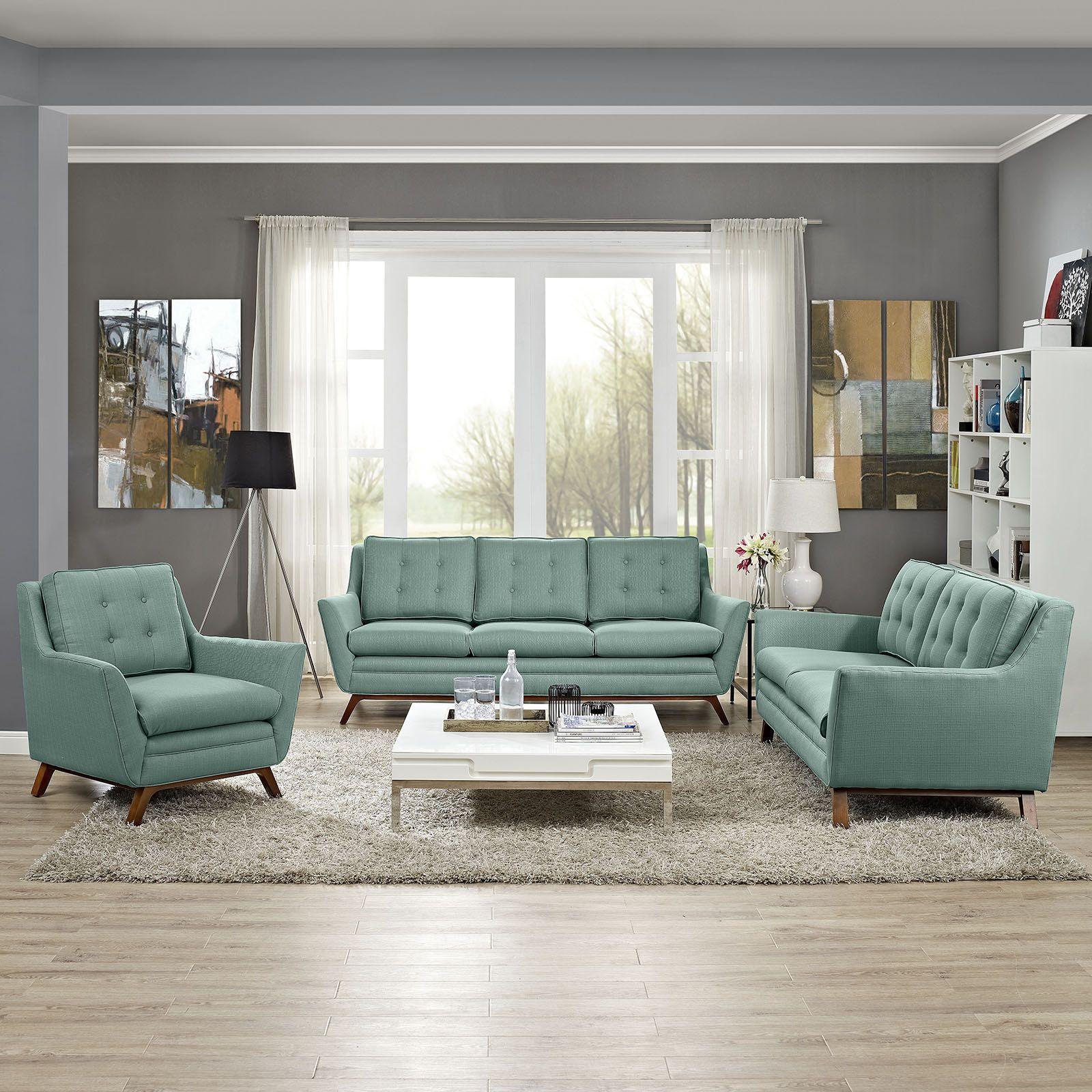 Beguile Living Room Set Fabric Set of