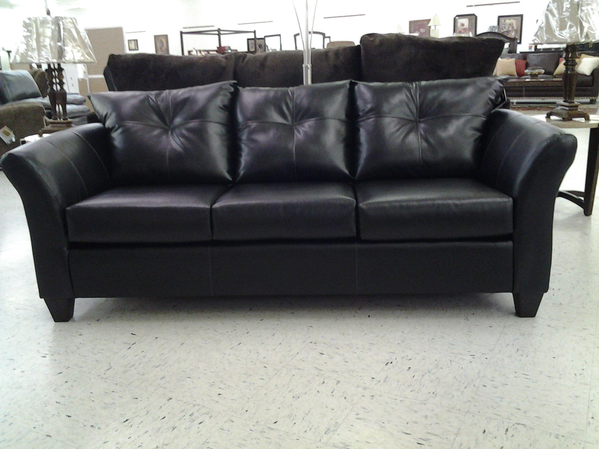 Superbe San Marino Ebony Leather Sofa
