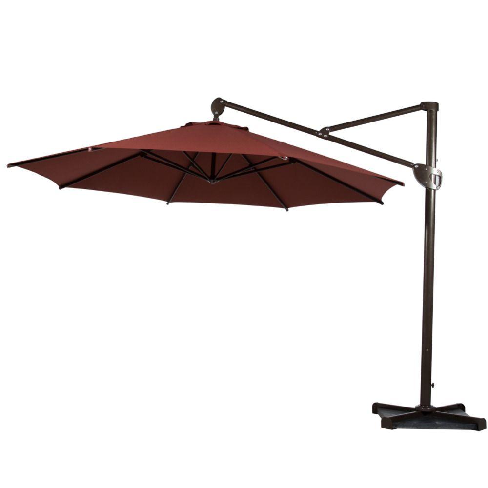 abba patio 11feet octagon offset cantilever patio umbrella with vertical tilt and cross base