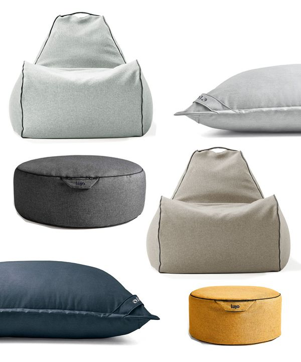 Lujo Beanbag Chair Beanbag Ottomans Giant Floor Cushions