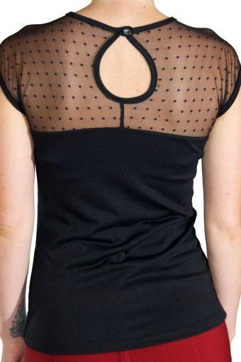 Rock Steady Clothing - Miss Fancy Top black