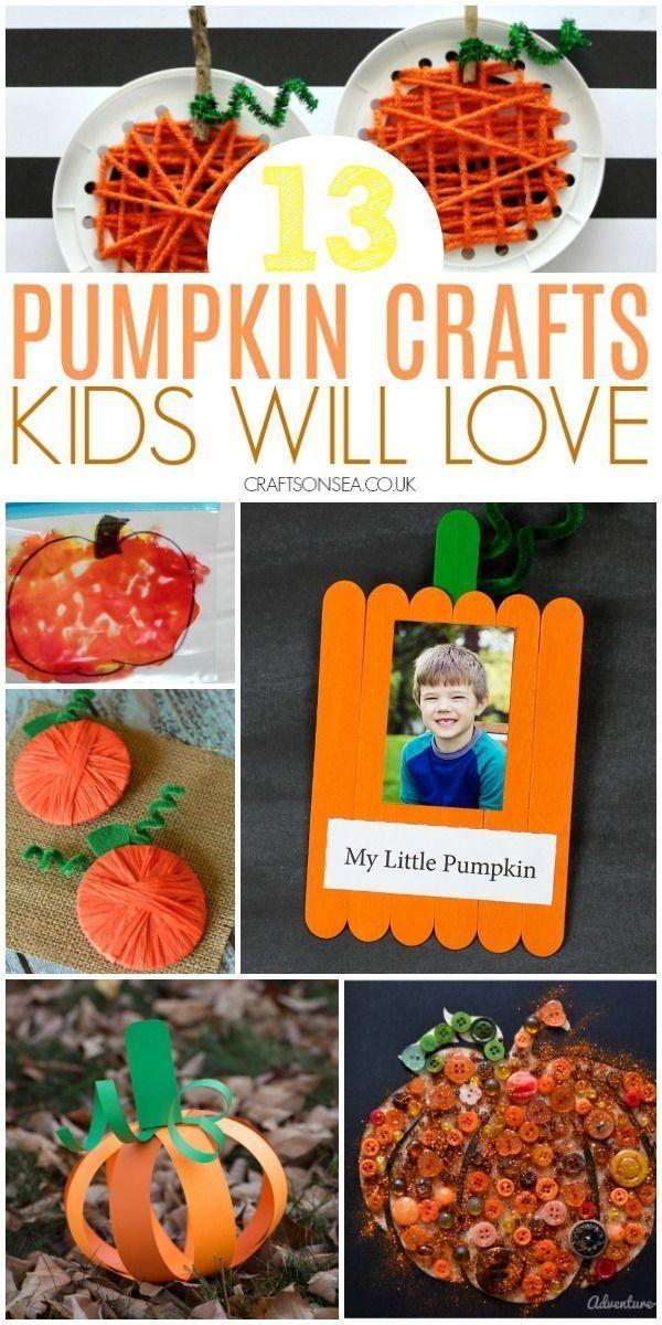 24 Easy and Fun Pumpkin Crafts for Kids #pumpkincraftspreschool