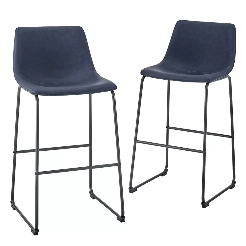 Mary Kate Counter Bar Stool With Images Blue Bar Stools Bar