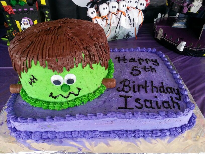 Frankenstein Birthday Cake Stuff Ive Made Pinterest
