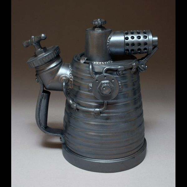 Flame Thrower #1. This is a teapot. Made out of clay. About 50 billion times more impressive in person. I want.