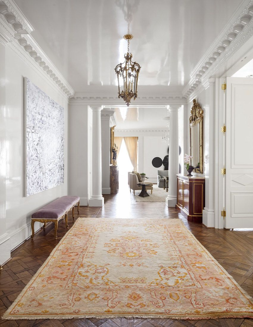 High Gloss Paint On Ceiling Of Entry Entry Stairs Galleries Collins Interiors Interior Lacquered Walls Home