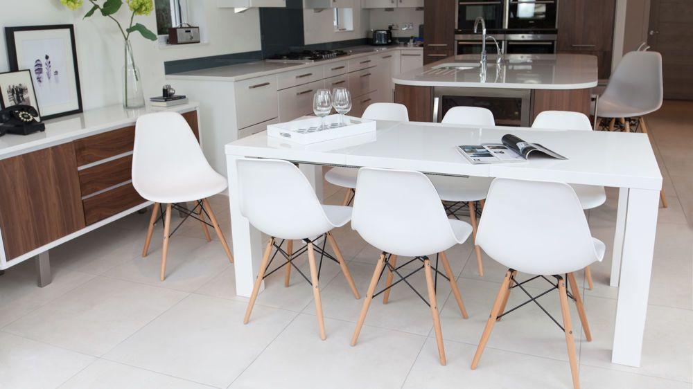 Fern White Gloss Extending Dining Table in 2019 | White ...