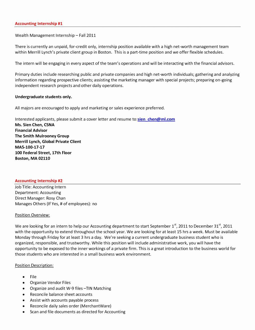 Magnificent Deloitte Audit Intern Resume Gift Exle
