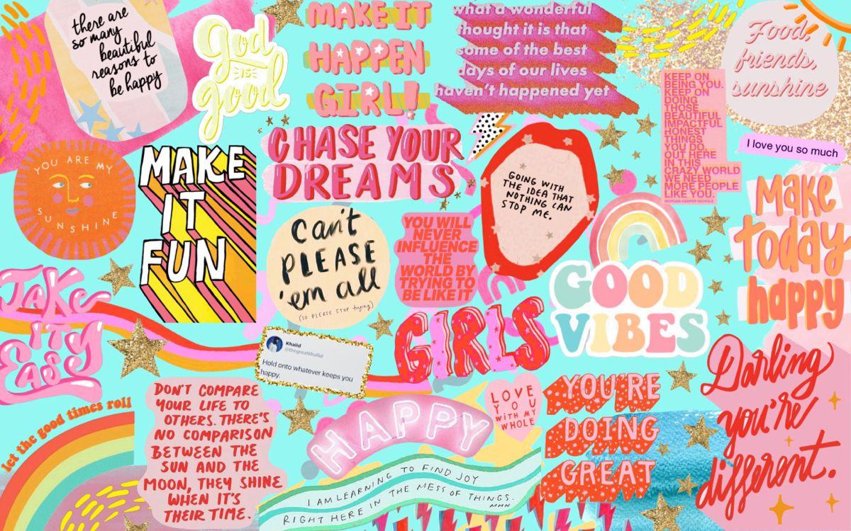 Collage Desktop Background Collage Background Quote Collage Desktop Wallpaper Art