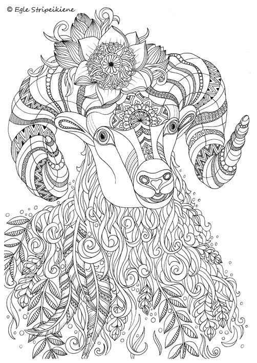 Coloring Page for Adults Bee by Egle Stripeikiene. www.egledesign.lt ...