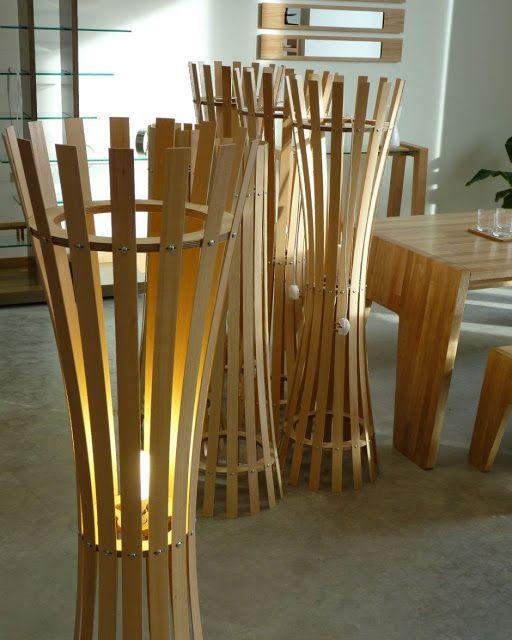 Iluminação Wood Second Chance iluminação LED Pinterest Bambú - muebles de bambu modernos