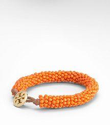 Orange bracelet - works with everything!