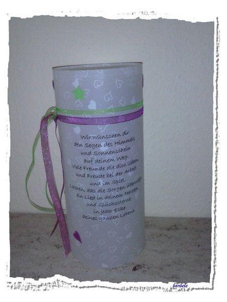 Laternen - Lichthülle Geburtstag - ein Designerstück von Das-Kleine-Kreative-Atelier bei DaWanda