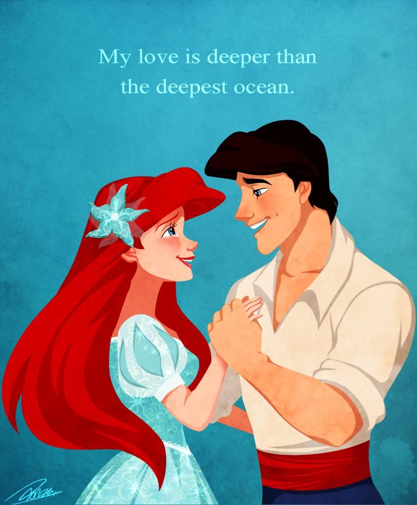 b7dc653b5 Ariel & Erik - The Little Mermaid - Lovely quote | kiss the girl ...
