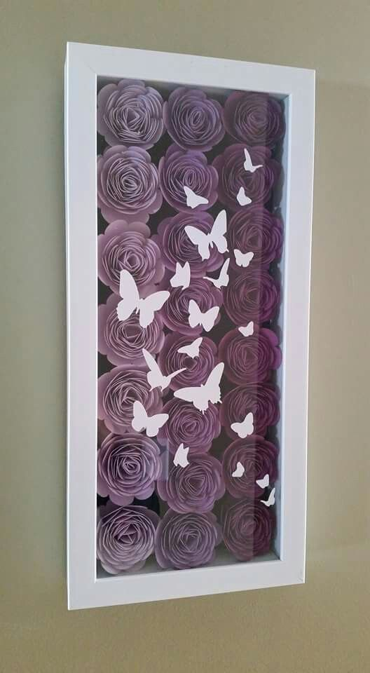 Butterflies and roses | Cricut Ideas | Pinterest | Leinwand ...