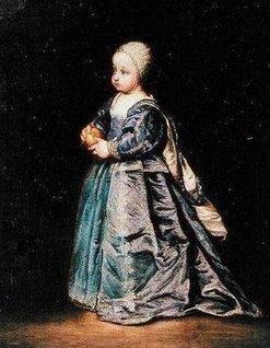 3- Princess Henrietta of England by Sir Anthony van Dyck.- § HENRIETTE ANNE D'ANGLETERRE: .. la laissant à la garde de sa gouvernante, Lady Dalkeith, comtesse de Morton. - LA FUITE ET L'EXIL: Au vu du contexte politique de l'époque, son père ordonne prudemment que la princesse Henriette soit rapidement baptisée selon le rite anglican. Quelques mois plus tard, après la défaite de Naseby, Charles 1° envoie par sécurité son fils aîné, le prince de Galles, rejoindre sa mère en France.