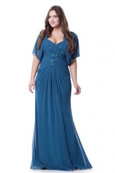 Sheath/Column Sweetheart Straps Floor-length Chiffon Plus Size Evening Dress