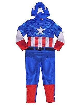 96be13dc2e Sleepwear and Robes 11510  Marvel Captain America Mens Blue Fleece Hooded  Costume Union Suit Pajamas M -  BUY IT NOW ONLY   32.99 on eBay!