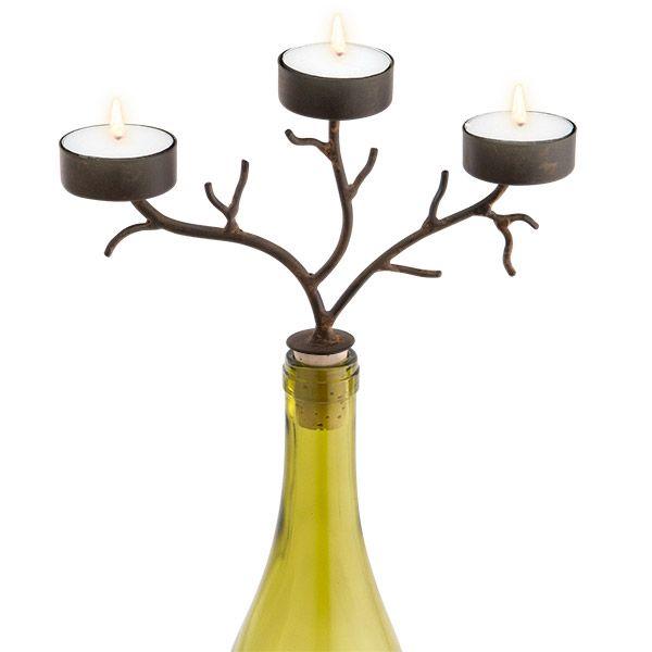 Southern Homewares Wine Bottle Topper Candelabra 4 Candle Holder Elegant
