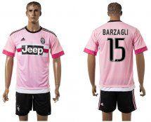 2015-2016 Juventus #15 BARZAGLI Pink Away