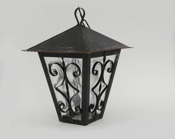 Hanging Lantern Wrought Iron Style Outdoor Electric Black Metal Lamp Garden Farmhouse Antique Hanging Lanterns French Country Decorating Wrought Iron Style