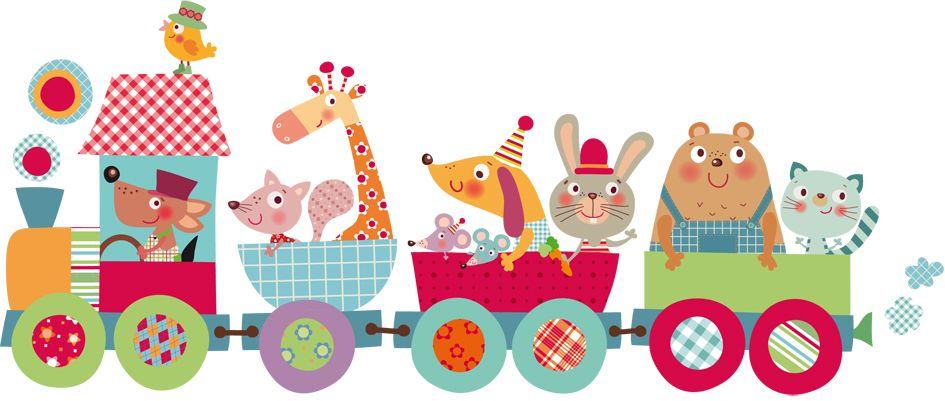 Vinilo infantil tren m gico decoracion bebe pinterest for Pegatinas decorativas infantiles