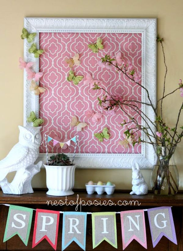 20 Vibrant DIY Easter Themed Mantel Designs | Mantels and Easter