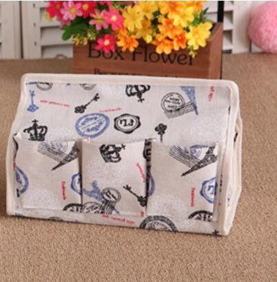 New Fabric Cotton & Linen 6 Pocket Tissue Box