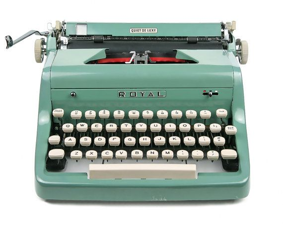1955 Teal Green Royal Quiet De Luxe Typewriter Professionally Serviced Royal Typewriter Working Typewriter G Royal Typewriter Typewriter Working Typewriter