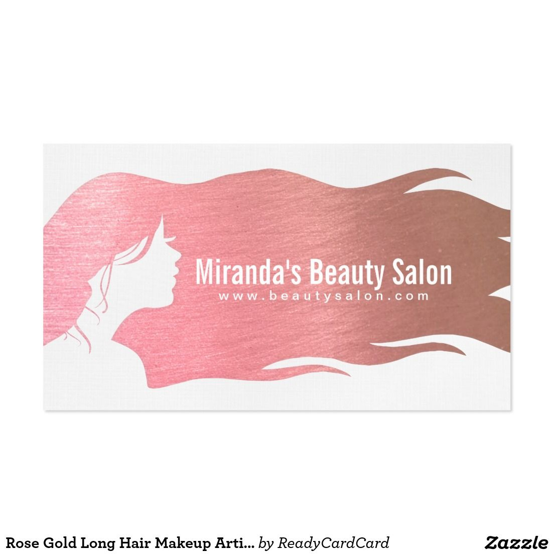 Rose gold long hair makeup artist hair stylist business card rose gold long hair makeup artist hair stylist business card magicingreecefo Image collections